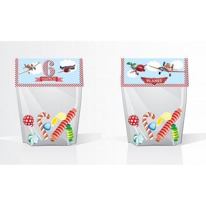 Planes - Foldover Treat Bag Tags